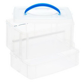 "SNAPWARE 1098842 Snap N Stack Seasonal 6"" x 9"" Ribbon Dispenser - 2 Layers"