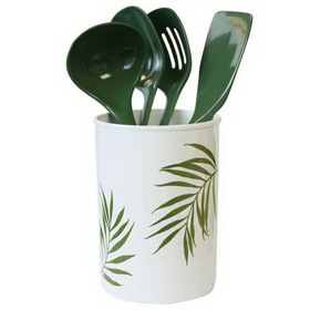 CORELLE 1102174 Coordinates 5-pc Bamboo Leaf Utensil Set