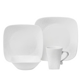 CORELLE 1107902 Boutique Cherish Square 16-pc Dinnerware Set
