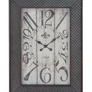 Woodland 20223 Designed Metal Wood Wall Clock with Mesh Pattern
