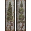 Woodland 20247 Antique Metal Wood Wall Decor 2 Assorted