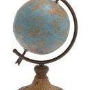 Woodland 20251 Antique Metal Globe in a Rustic Design