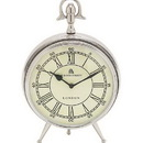 Woodland 24860 Bond Street Clock in Silver Finish