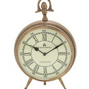 Woodland 24861 Bond Street Clock in Brass Finish