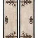 Woodland 34869 Wooden and Metal Wall Plaque with Assorted Classic Style