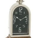 Benzara 40637 Astounding Steel Wood Table Clock