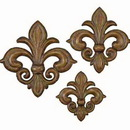 Woodland 41803 Set/3 French Fleur Li Dis Metal Wall Decor Sculpture