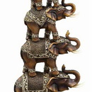 Woodland 44146 Stack/4 Trunk Up Elephant Cold Cast Statue Sculpture