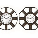 Woodland 51023 Set of Four Metal Wall Clocks in Bronze Finish