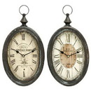 Woodland 52520 Oval Shape Sophisticated Assorted Metal Wall Clock - Set of 2