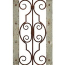 Woodland 52753 Antiqued Wooden and Metal Wall Panel with Vintage Ruggedness
