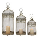 Benzara 52997 Set of 3 Amazing Metal Lantern