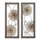 Woodland 54441 Victorian-themed sparkling assorted floral wall art