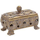 Woodland 54820 Decorative Box in Stunning Gold Finish & Dull Grey Wash