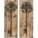 Woodland 55423 Enchanting Key Door Wall Plaque in Aged Wood