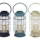 Benzara 55583 Mesmerizing Metal Glass Lantern 3 Assorted