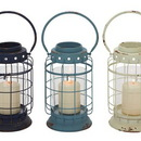 Benzara 55584 Exquisite Metal Glass Lantern 3 Assorted