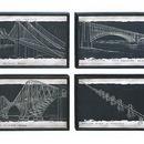 Woodland 56004 Blueprint Style Art With Iconic World Bridges