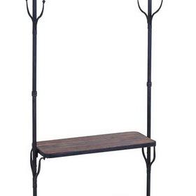 Benzara 56117 Clothing Rack With Multiple Hooks And Shelves, Price/piece