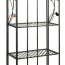 Benzara 63065 Colorful and Elegant Bakers Rack With Flower Motifs 68
