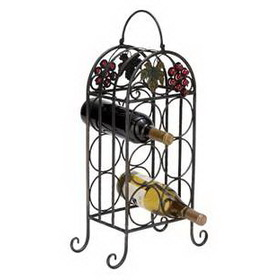 "Woodland 63337 Sheet Metal Wine Holder 23""H, 12""W"
