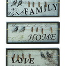 Woodland 69270 Inspirational Wall Plaque With Photo Clips