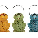 Benzara 76462 Contemporary Styled Ceramic Frog Lantern 3 Assorted