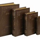 Woodland 80510 Library Books Leather Faux Book Boxes Set/4 Large Set