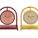 Benzara 92211 The Unique Metal Desk Clock 4 Assorted
