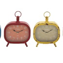 Benzara 92214 The Rectangular Metal Desk Clock 4 Assorted
