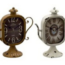 Benzara 92236 Captivating & Unique Styled Metal Table Clock 4 Assorted
