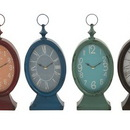 Benzara 92237 Stylish Metal Table Clock 4 Assorted