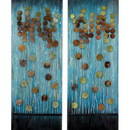 Woodland 92353 Handcrafted Metal Wall Plaque with Aesthetic Appeal 2 Assorted