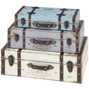 Woodland 93776 Trunk with Exceptional Looks & Intrinsic Details - Set of 3