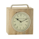Benzara 94429 Splendid Wood Metal Table Clock