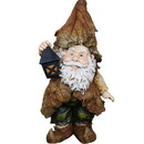 Benzara ALP-GXT688 15 Inch Rainforest Gnome With Lantern Garden Statue