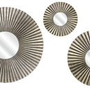 Benzara IMX-10431-3 Astonishing Piper Round Mirrors - Set of 3