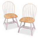 Winsome 53999 Wood Set of 2 Windsor Chairs, Assembled