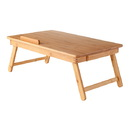 Winsome 80623 Baldwin Lap Desk with Flip Top and Drawer, Natural Finish