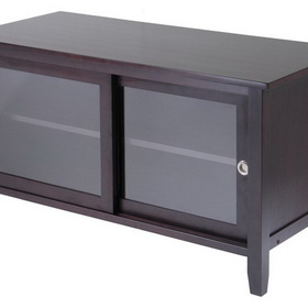 Winsome 92044 Wood TV Media Stand with sliding doors