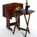Winsome 94517 Wood 5pc Oversize TV Table