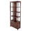 Winsome 94827 Oscar Cabinet w/Switchable Display Shelf, Antique Walnut Finish
