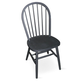 "International Concepts C46-212 Windsor 37"" High Spindleback Chair - Plain Legs, Black (Price/Each)"