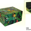 Wayborn 3054 Tropical Box, 6.5'' x 12'' x 9.5'', Multi Color