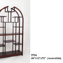 Wayborn 5704 Etagere Display Unit, 72'' x 40'' x 12'', Dark Brown
