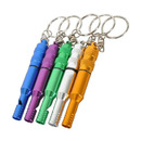 GOGO 10 Pcs Waterproof Safety Whistle, Survival Emergency Aluminum Whistle Key Chain
