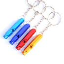 GOGO 10 Pcs Emergency Safety Whistle, Hexagonal Aluminum Whistle Key Chain