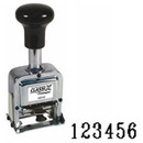 Xstamper 40250 Metal Self-Inking Automatic Number Stamp Size: 2 / 6-Band, Black, 14/16
