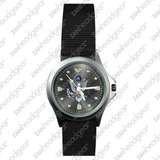 Zan Headgear Field Watch, US Army Logo, Black Face