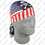 Zan Headgear Flydanna , 100% Cotton, Patriotic Skull